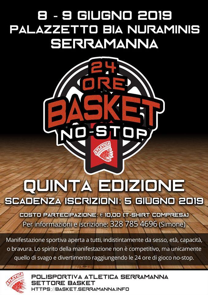 24 ore basket no stop serramanna 2019