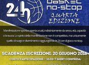 24 ore di Basket NO-STOP: iscrizioni entro il 20 giugno 2018