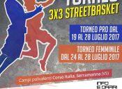 Torneo Pro e Torneo Femminile Streetbasket 3vs3: dal 19 al 28 luglio 2018